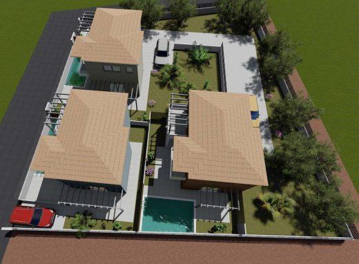 Συγκρότημα κατοικιών στην Βασιλική Λευκάδας